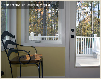 Home renovation, Deltaville, VA